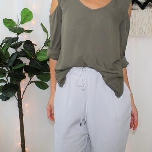 NWT Zara Gray Tapered Leg Trouser Pants 009